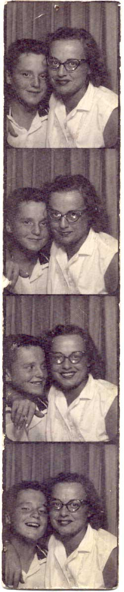 Steve and Ruthie in the Lawrence Ave. Sears & Roebuck photo booth